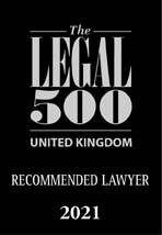 Legal 500 2021 Recommended Lawyer