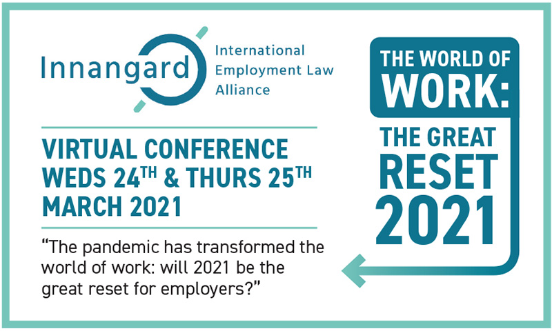 Innangard Virtual Conference: The World of Work: The Great Reset 2021 – Wed 24 & Thurs 25 March 2021